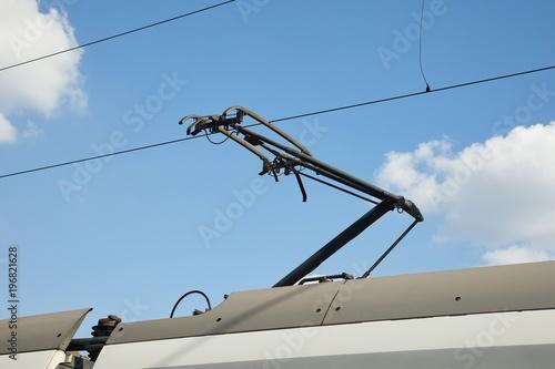Train Pantograph Closeup Tapéta, Fotótapéta