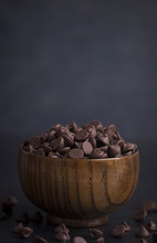 A Bowl Of Chocolate Chips On A...