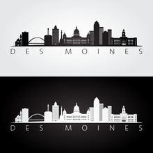 Des Moines USA Skyline And Lan...