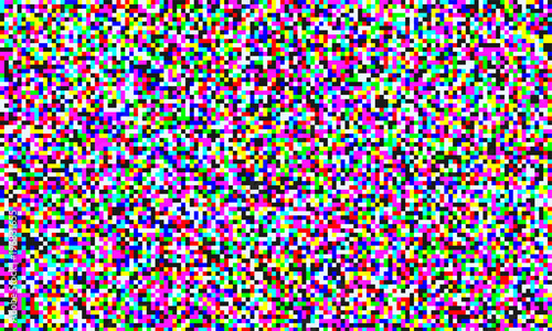 Photo TV pixel noise of analog channel grain screen seamless background