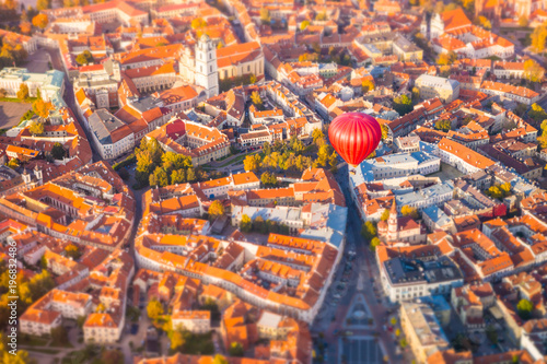 Canvas Prints Eastern Europe Aerial view of Vilnius, Lithuania