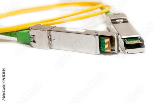 Fotografie, Obraz  Optical gigabit SFP module for network