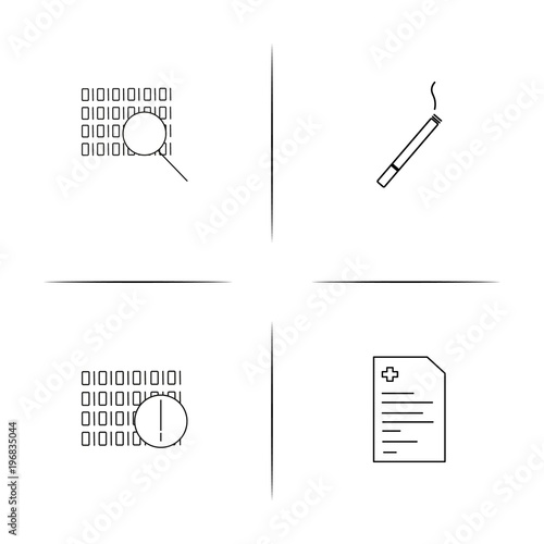 Fotografie, Obraz  Healthcare And Medical simple linear icon set