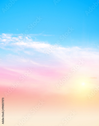 Fototapety, obrazy: Sky and clouds vertical photo