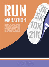 City Running Marathon. Athlete...