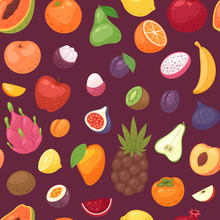 Fruits Vector Fruity Apple Ban...