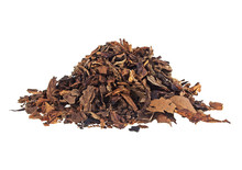 Heap Of Dry Tobacco On A White...