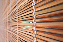 Tropical Bamboo Wood Blinds Backgrond