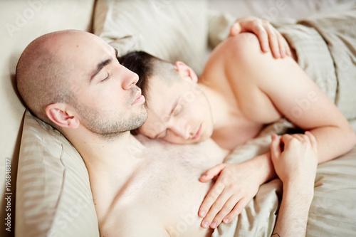 Gay guys sleeping