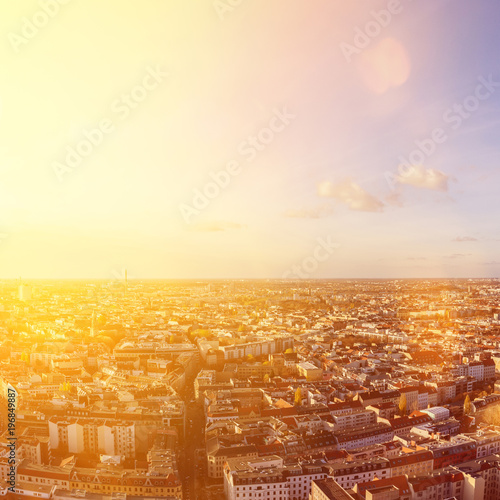 Photo  Berlin City Skyline an einem sonnigen Tag