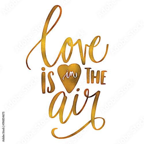 Obraz na plátně Love is in the air