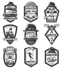 Vintage Mafia Emblems Set