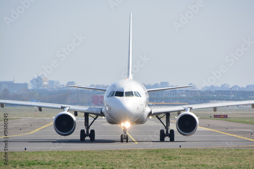 Fotografie, Obraz  This is a view of AirFrance plane Airbus A318-111 registered as F-GUGE on the Warsaw Chopin Airport