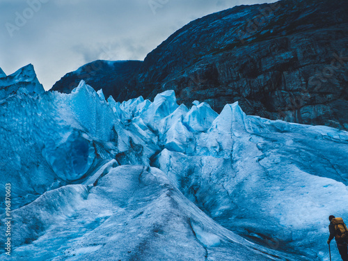 Fotobehang Gletsjers Cold Glacier
