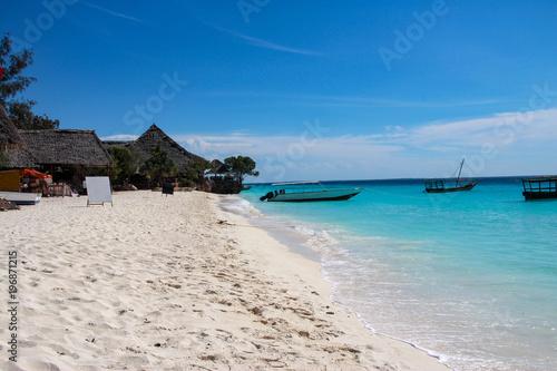 In de dag Zanzibar Nungwi Beach, Zanzibar, Tanzania