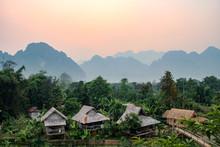 Sunset In Vang Vieng, Laos, So...