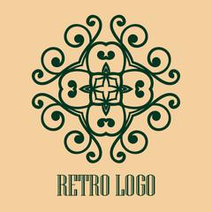 Vintage ornamental logo