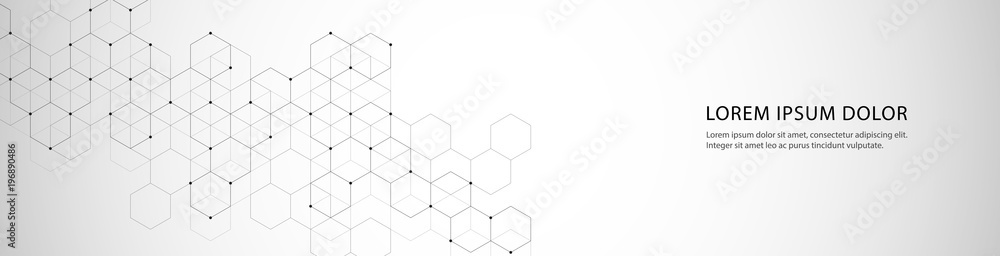 Fototapety, obrazy: Vector banner design with hexagons abstract background.