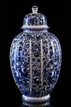 Antique Traditional Chinese Porcelain Vase On Black Background