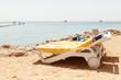 Half turn view chaise longues on the beach beach chaise longues