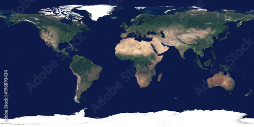 Full Earth Map.Large And Detailed High Resolution Photo Of The Earth Texture Of