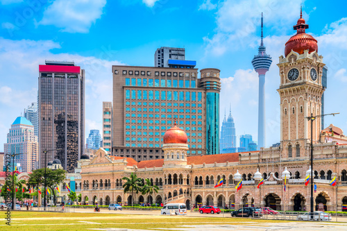 Poster Lieu connus d Asie Kuala Lumpur, Malaysia. Sultan Abdul Samad building in Merdeka Square.