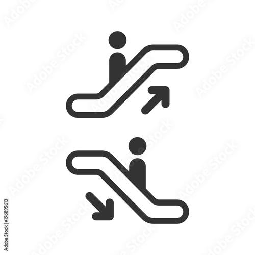Fotografie, Obraz Escalator elevator icon