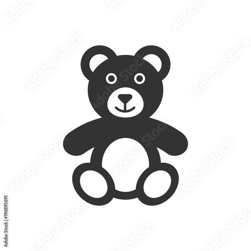 Teddy bear plush toy icon. Vector illustration. Business concept bear pictogram. #196895691