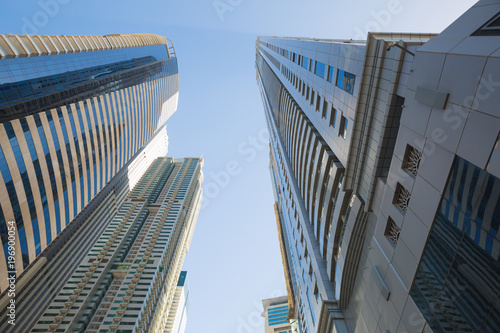 Photo  High rise and modern buildings in Dubai Marina, UA