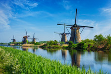 Windmills At Kinderdijk In Hol...