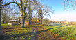 Historical manor grounds, listed as monument in Vargatz, Mecklenburg-Vorpommern, Germany