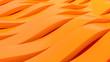 Leinwanddruck Bild - 3d Abstract Stripe Background waving surface made of orange lines