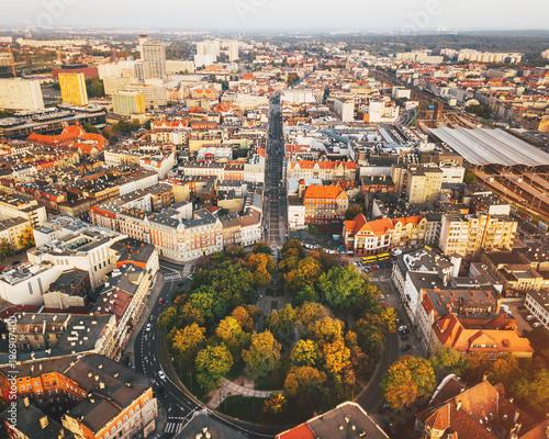 Katowice Plac Wolności z powietrza