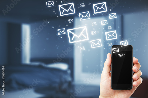 Smartphone with emails
