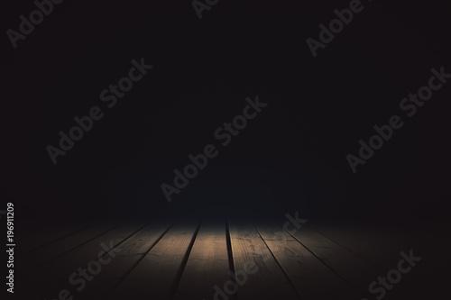 Canvastavla  Dark background with spotlight