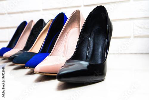 Fashion concept, catwalk. Online store