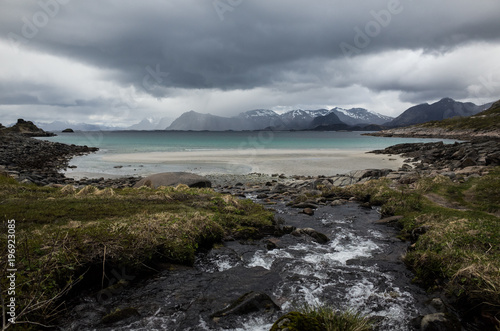 Papiers peints Taupe Lofoten, Norway