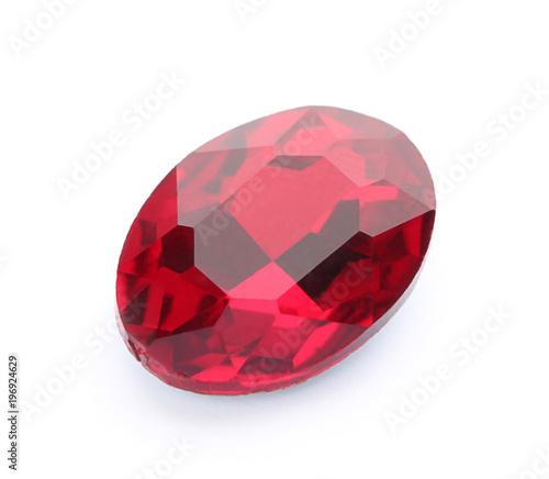 Fotografía Precious stone for jewellery on white background