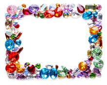 Frame Made Of Colorful Preciou...
