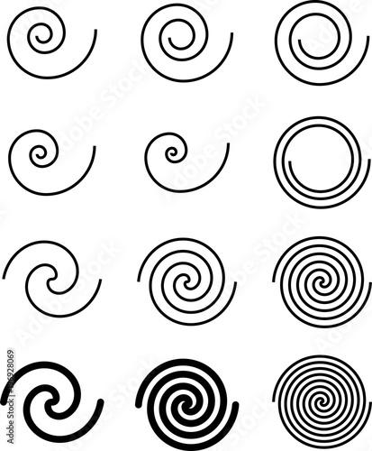 Obraz Spiral Collection, Archimedean, Fermat Spiral - fototapety do salonu