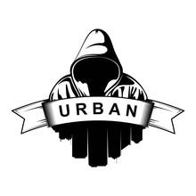 Logo Design. Hooded Man. City ...