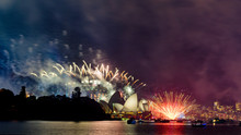 New Years Eve Fireworks And Ce...