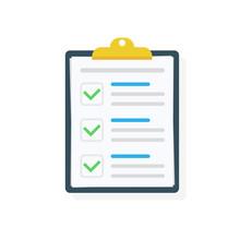 Clipboard With Checklist Icon....