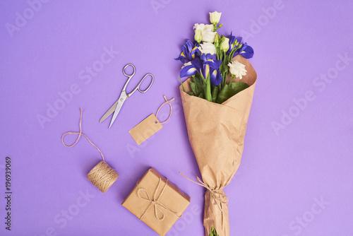 Fotografía  Greeting card white flowers