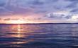 Summertime sunset on the sea