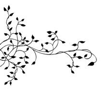 Ivy Vine Vector Design Element, Pretty Leaves In Elegant Hand Drawn Illustration, Wedding Invitation Border Design, Fancy Elegant Background Decoration