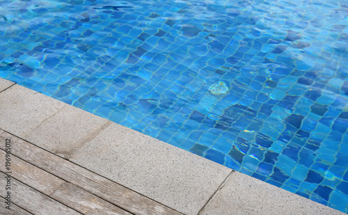 Wooden plank and cement foreground at swimming pool. - Buy ...