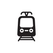 tram, public transportation filled vector icon. Modern simple isolated sign. Pixel perfect vector illustration for logo, website, mobile app and other designs