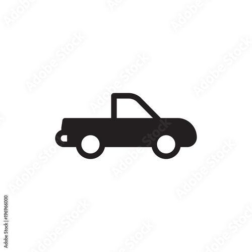 Pick Up Truck Delivery Truck Filled Vector Icon Modern