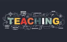 Design Concept Of Word TEACHIN...